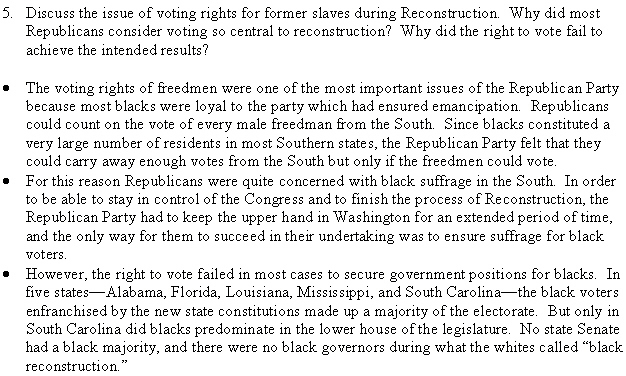 why did reconstruction fail Though such comparisons don't excuse the failings that reconstruction governments did exhibit, the fact remains that such governments did establish some of the first public and social services in the south outside of north carolina not because of black failure.